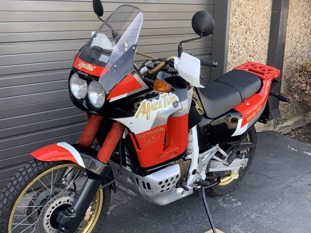 Dealer Find 1991 Honda Xrv750t Africa Twin Lowest Mile Adventure Classic We Ve Seen Neverdropped